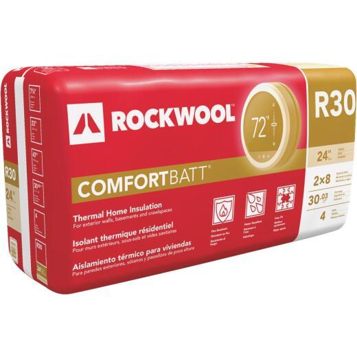 Rockwool Comfortbatt R-30 24 In. x 47 In. Stone Wool Insulation (4-Pack)