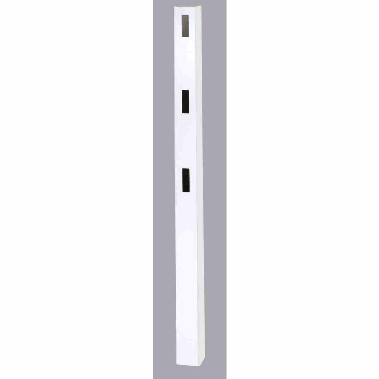 Outdoor Essentials 5 In. x 5 In. x 84 In. White Line 3-Rail Fence Vinyl Post Image 1