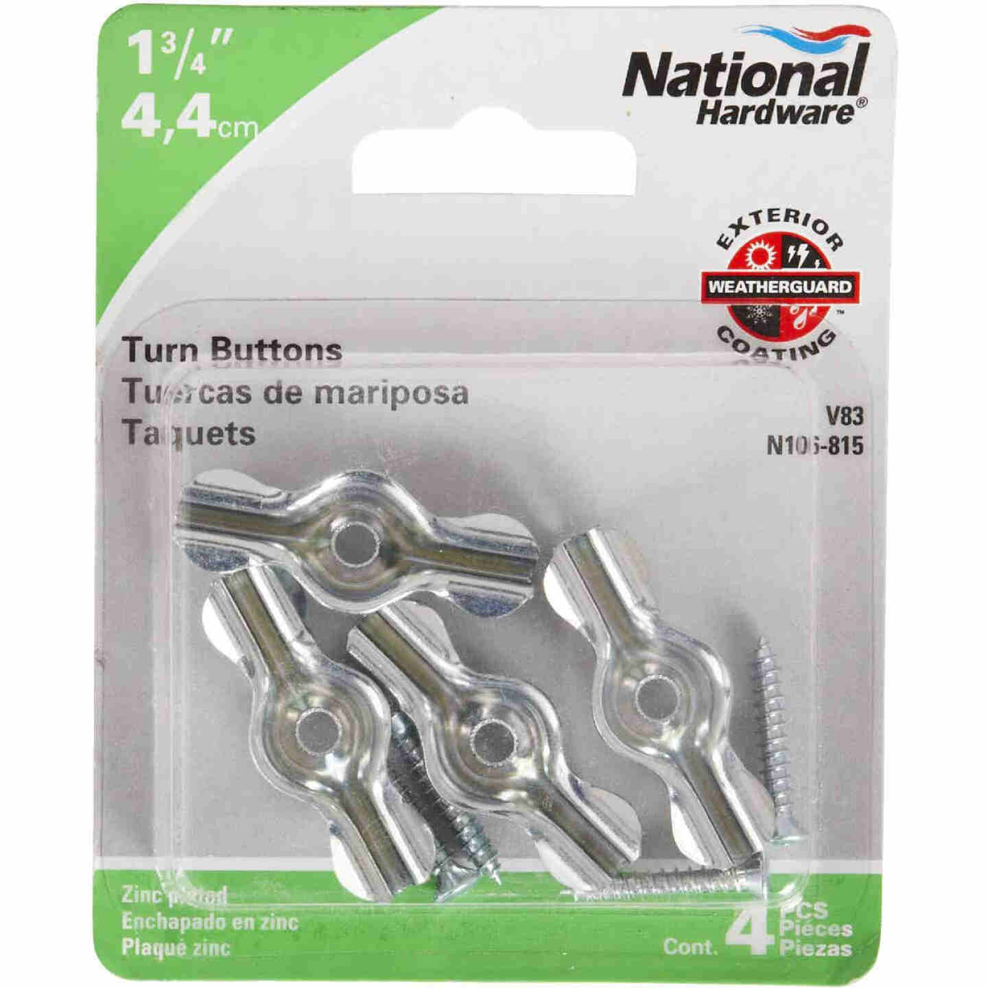 National 1-3/4 In. Zinc Turn Button (4 Pack) Image 2