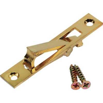 Johnson Hardware 2.94 In. L. Rectangular Bright Brass Edge Pocket Door Pull