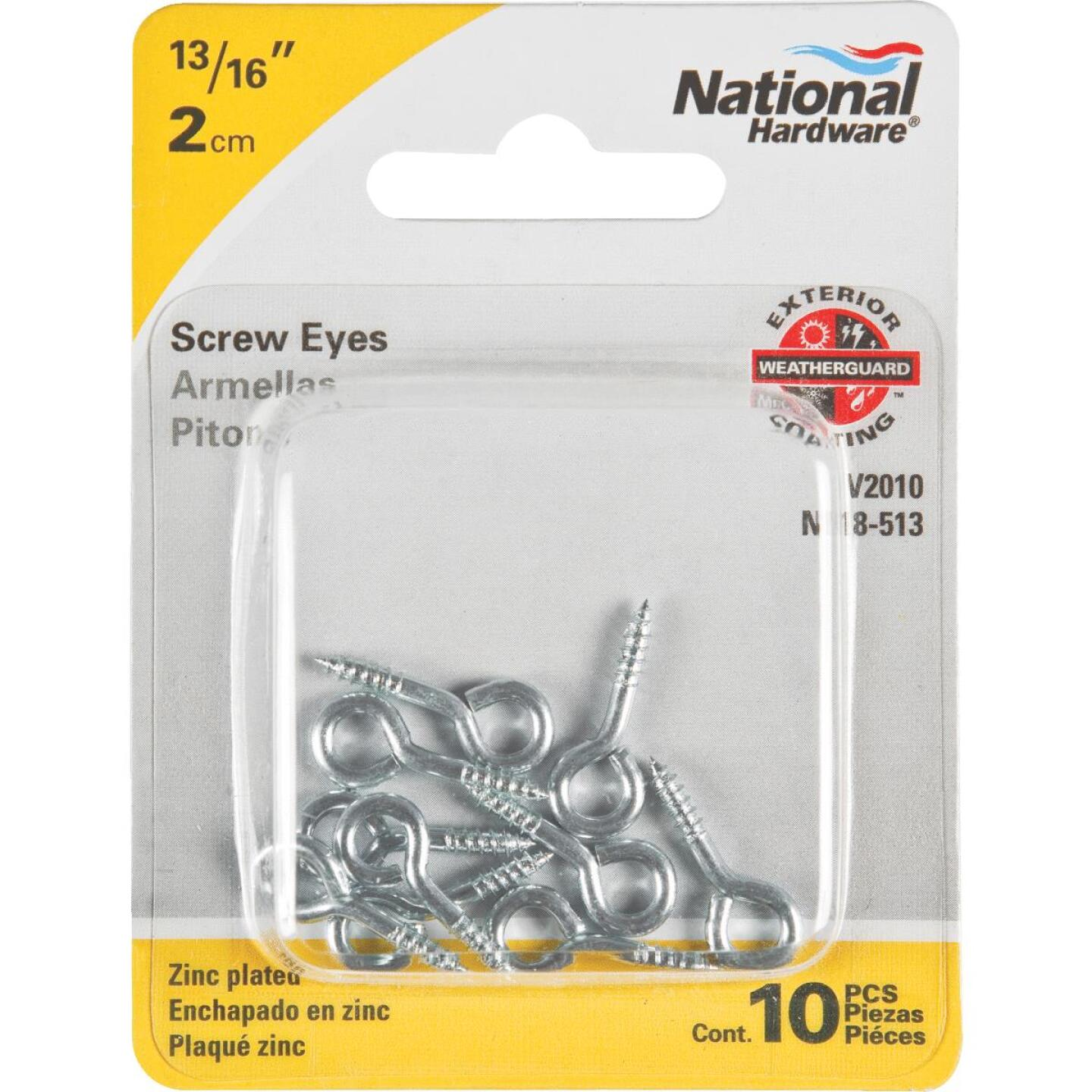National #214 Zinc Small Screw Eye (12 Ct.) (10 Ct.) Image 2