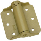 National 3 In. BakEnamel Brass Full-Surface Spring Door Hinge (2-Pack) Image 1
