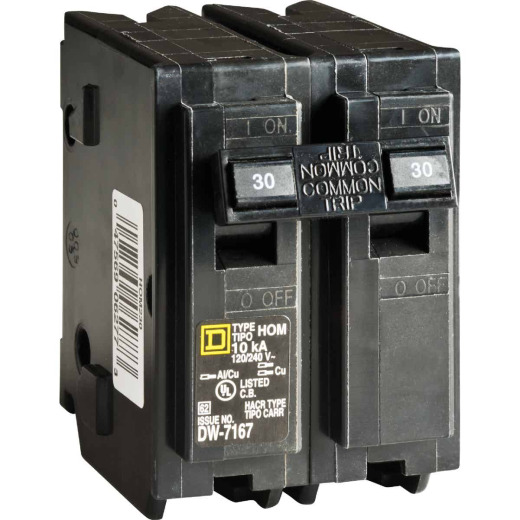 Square D Homeline 30A Double-Pole Standard Trip Circuit Breaker