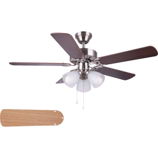 Home Impressions Studio 42 In. Brushed Nickel Ceiling Fan with Light Kit