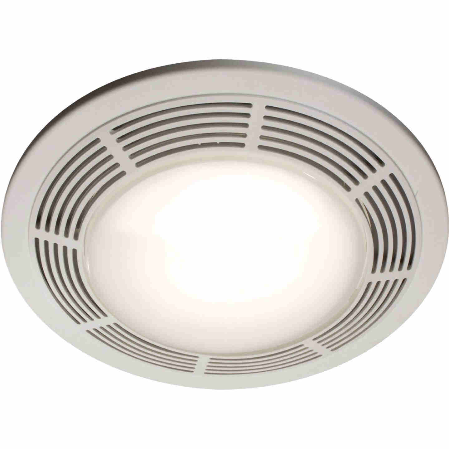Broan 100 CFM 3.5 Sones 120V Bath Exhaust Fan with Light Image 1