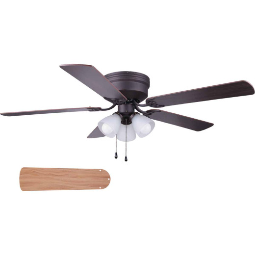 Home Impressions Adobe 52 In. Oil Rubbed Bronze Ceiling Fan with Light Kit