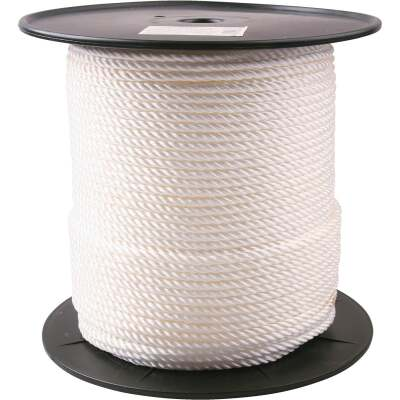 Do it 1/4 In. x 600 Ft. White Twisted Nylon Rope