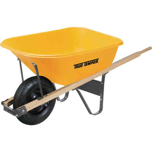 True Temper 6 Cu. Ft. Poly Wheelbarrow