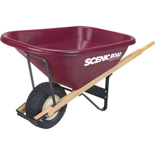 Scenic Road 8 Cu. Ft. Tradesmen Duty High-Density Poly Wheelbarrow