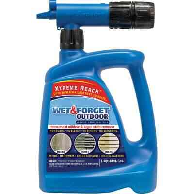 Wet & Forget 48 Oz. Hose End Spray Concentrate Moss, Mold, Mildew, & Algae Stain Remover