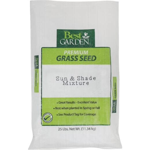 Best Garden 25 Lb. 6250 Sq. Ft. Coverage Sun & Shade Grass Seed