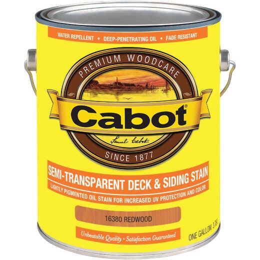Cabot VOC Semi-Transparent Deck & Siding Exterior Stain, Redwood, 1 Gal.