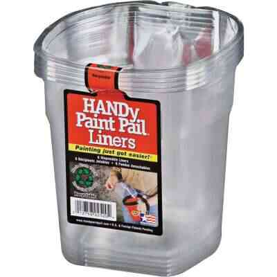 HANDy 1 Qt. Clear Paint Pail Liner (6-Pack)